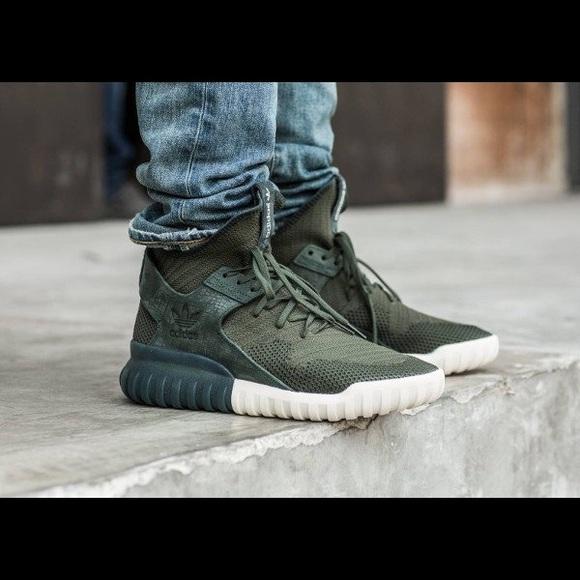 Adidas zapatos tubular x sombra verde poshmark
